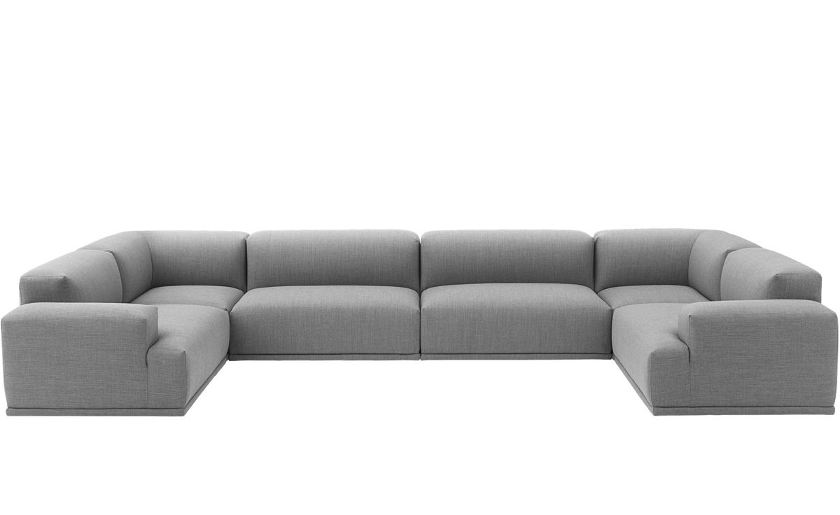 connect u shaped sectional sofa