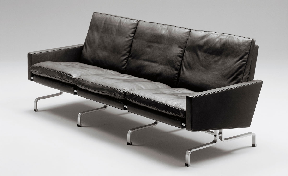 Poul Kjaerholm Pk31 Three Seat Sofa