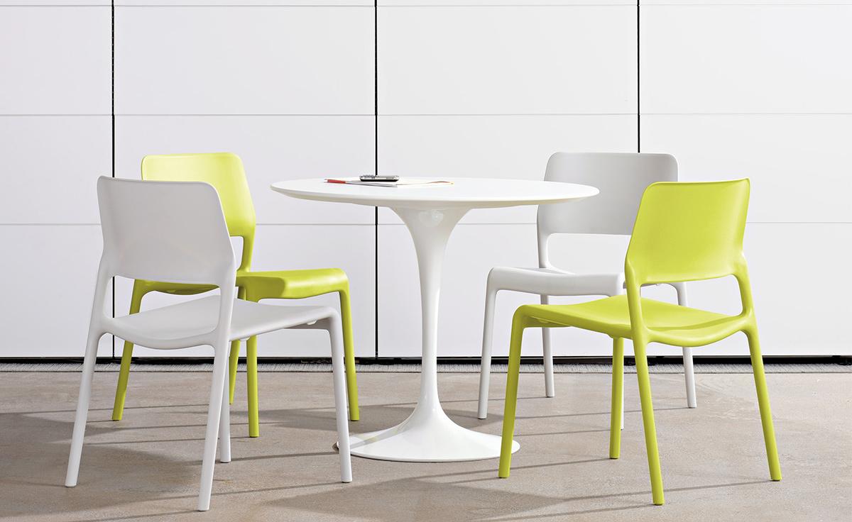 Saarinen Dining Table White Laminate