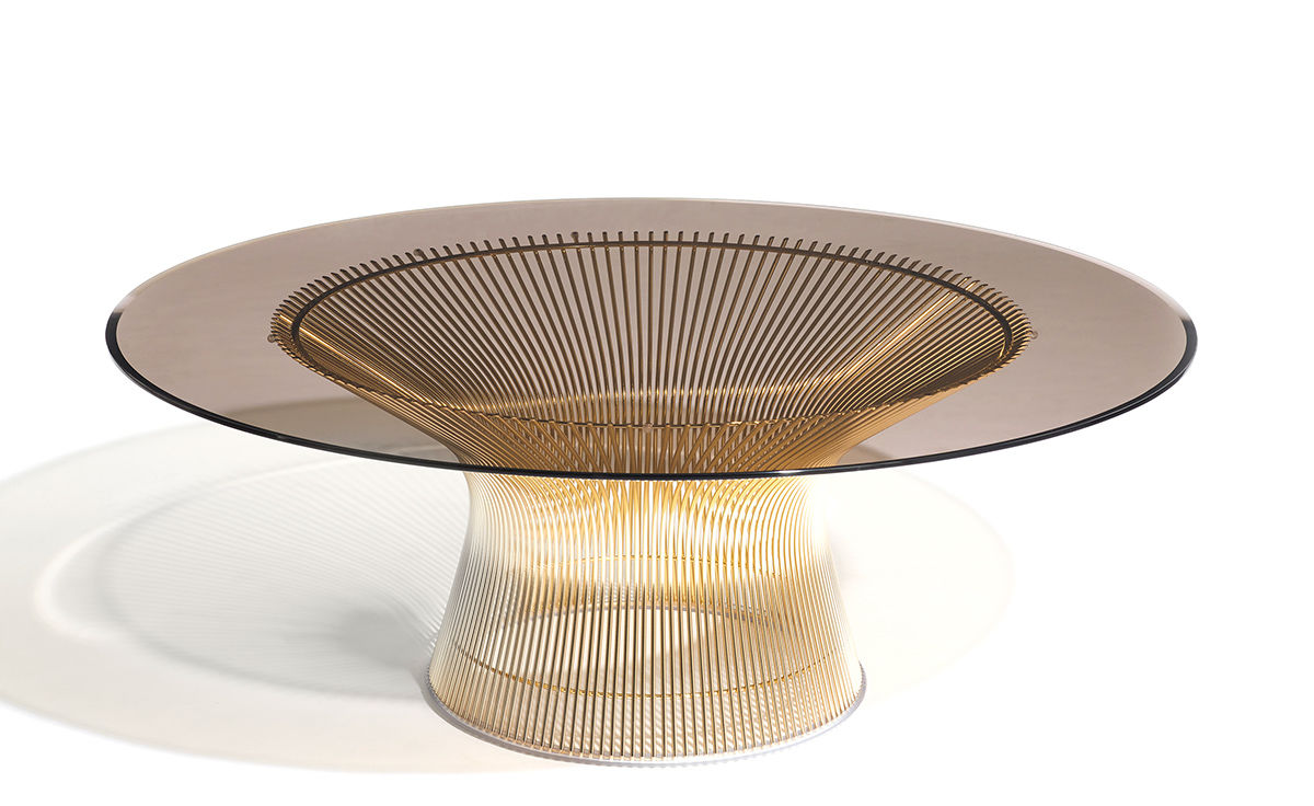 Platner Gold Plated Coffee Table 36 Dia