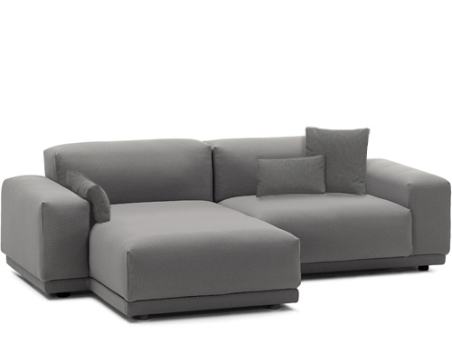 Couch Chaise Lounge Attached