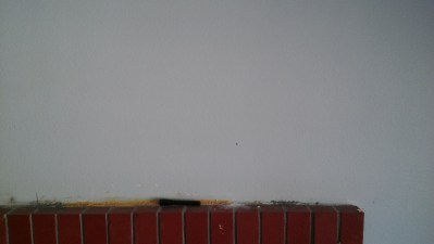 Drywall before opening.