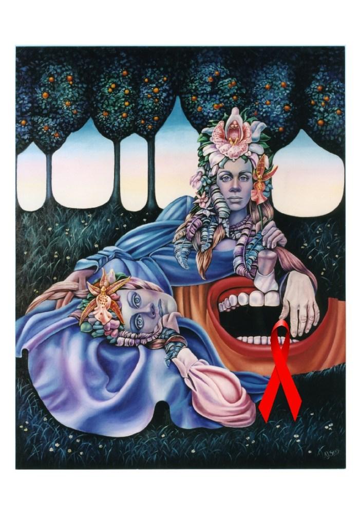 Adrienne Seed - Paintings Visual AIDS (3/6)