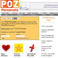 POZ Personals site screenshot