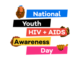 sign saying National Youth HIV Awareness Day