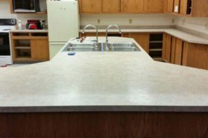 commercial counter double sink