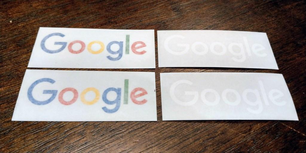 Googleステッカー転写式