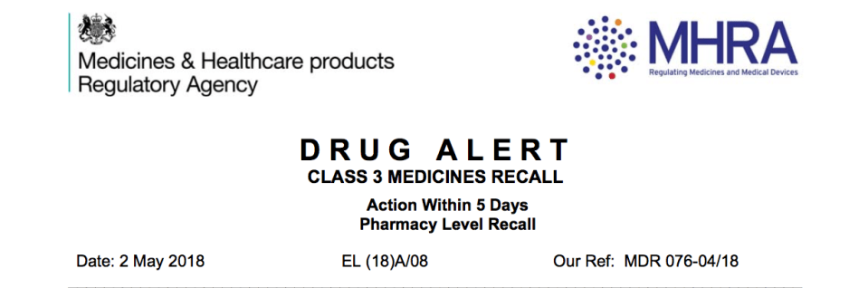 Drug alert