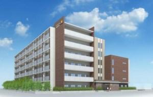 来年3月にオープンする「日吉国際学生寮(仮称)」の完成予想図(同大学ニュースリリースより)