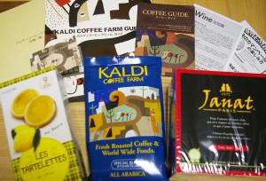 コーヒー豆も半額、食品も全品10%のセール期間とあって、手頃感もありました。ワインやチーズの食品についての案内も