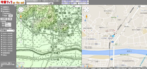 明治42(1909)年の綱島駅周辺はまだ「大綱村」という名だった(「今昔マップ on the web(埼玉大学教育学部・谷謙二研究室)」より)