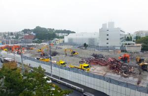 旧「アピタ日吉店」の解体現場、すでに建物は残っていない(2016年9月19日、読者提供)