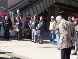 式典にはボランティアを支える日吉地区周辺の関係者が出席(同会提供)