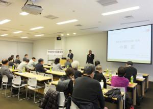 神奈川県警や港北区役所、日吉地区連合町内会や港北区宅建防犯協会の会員など、約30名が参加しました