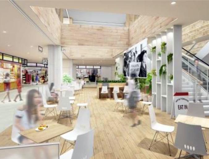 ユニーが全テナント発表、アピタテラスに「スタバ」や店内飲食テラス、貸会議室も