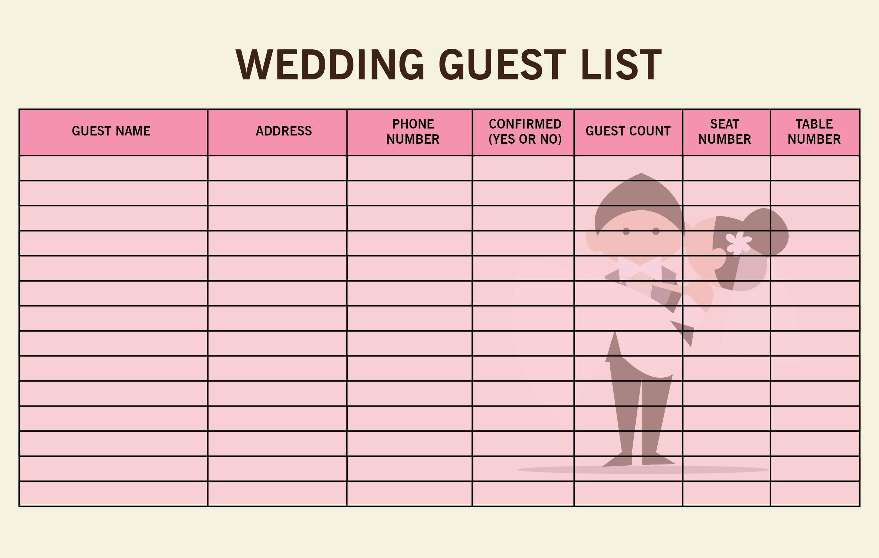 The Easy Steps On Creating Your Wedding Guest List