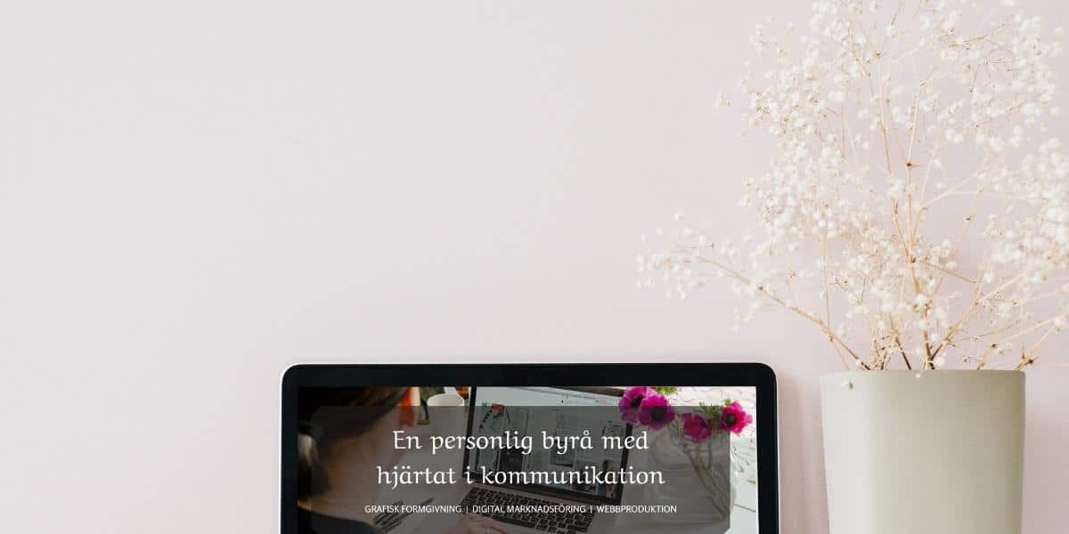 En datorskärm som visar en del av Hjärter Esses nya webbplats.