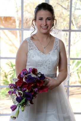 Portrait of the Bride with her wedding flowers