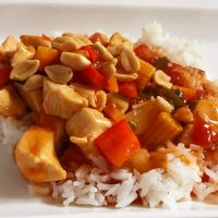 Kinesisk sød/sur kylling