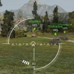 White arcade and sniper sight