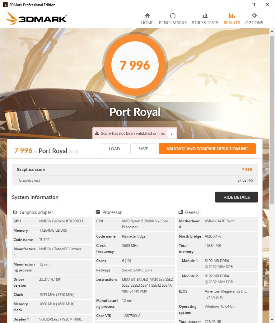 3DMark – Port Royal