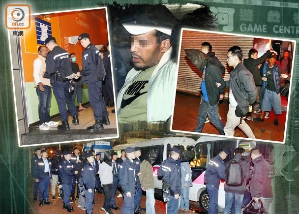 警方深宵全港大舉反黑 拉逾200人包括南亞假難民|即時新聞|港澳|on.cc東網