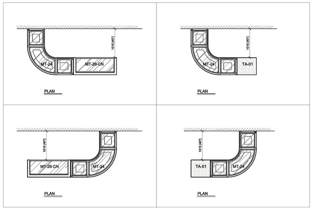 MT-24 with TA-01 Floor Plan | Besty Display