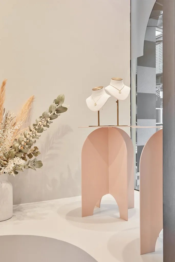 Pink Display Stand in Window | Besty Display