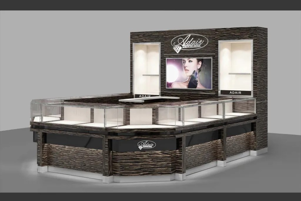 3D Effect of Kiosk for S-084 Series   Besty Display