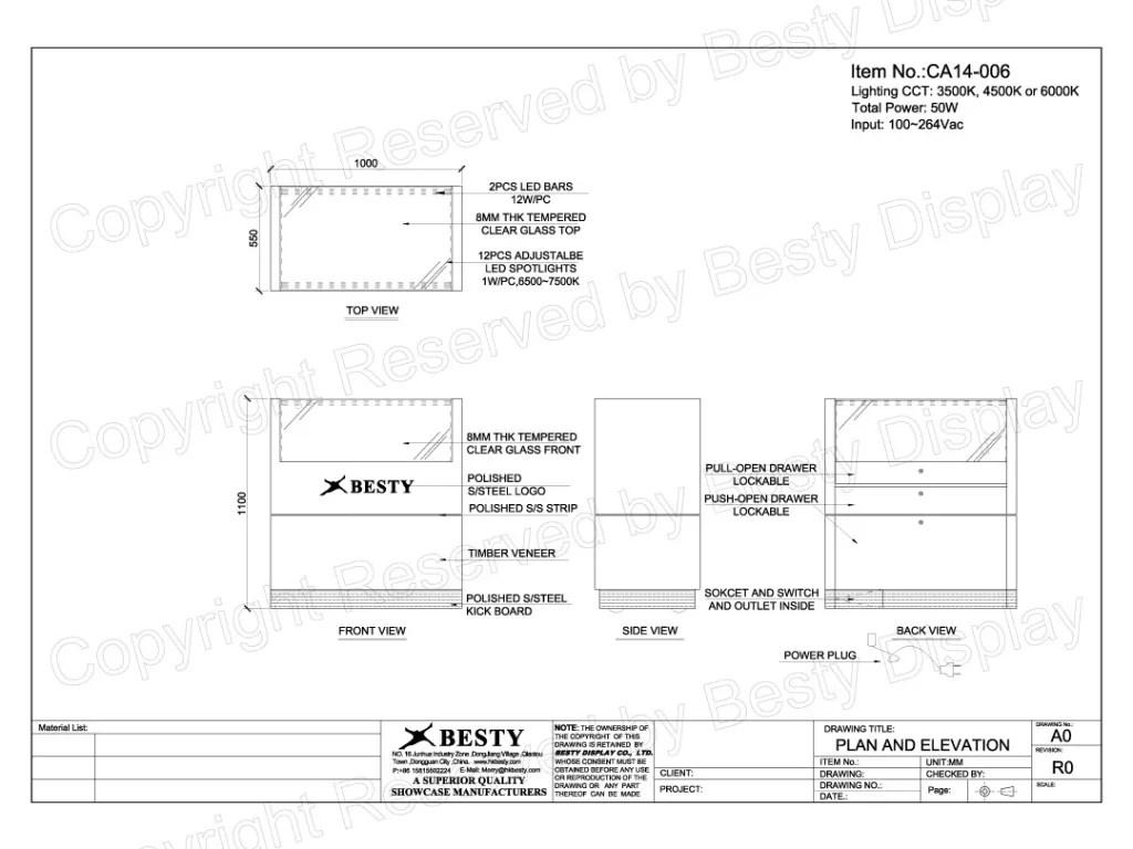CA14-006 Technical File Measurement | Besty Display