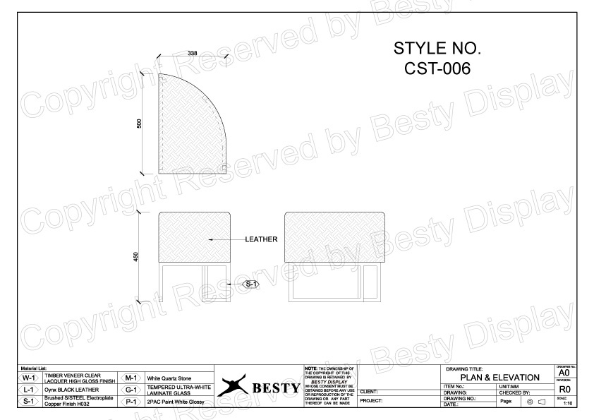CST-006 Technical File Measurement | Besty Display