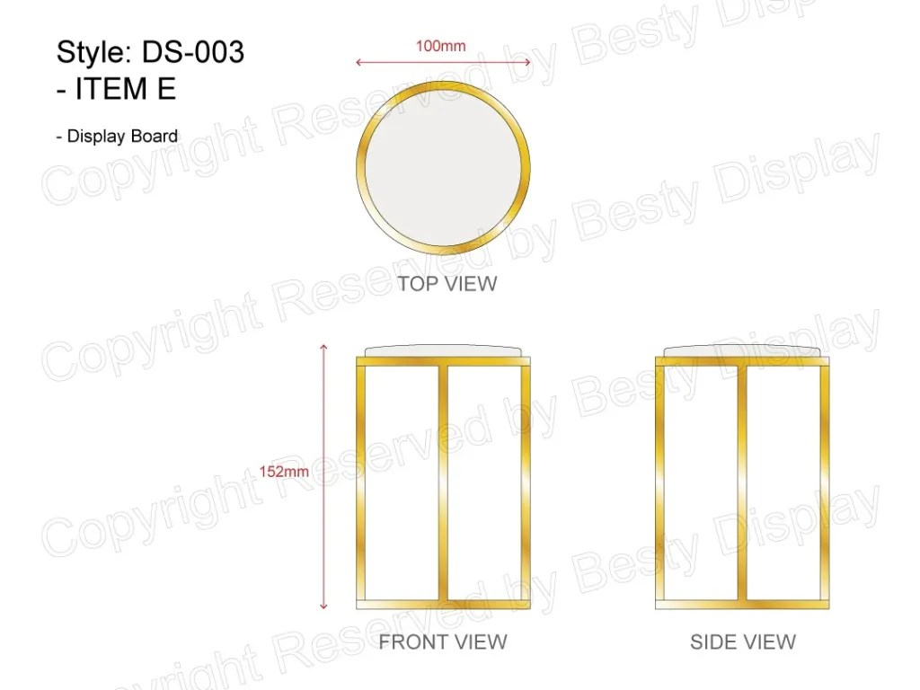 DS-003 Item E Technical File Measurement   Besty Display