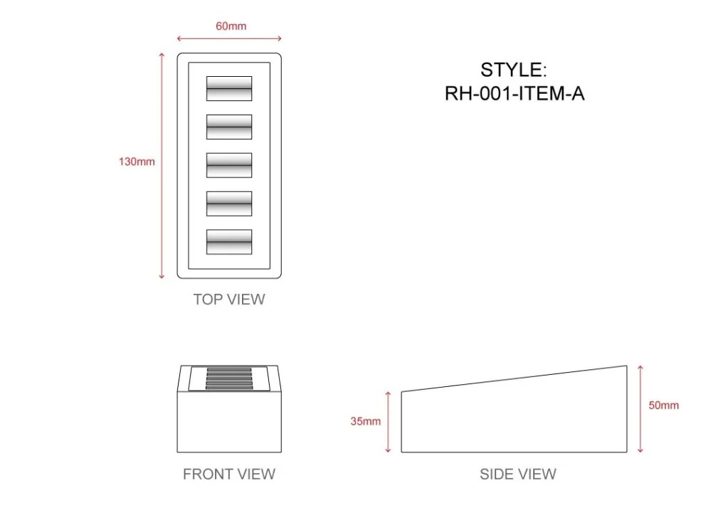 RH-001 Item A Technical File Measurement   Besty Display