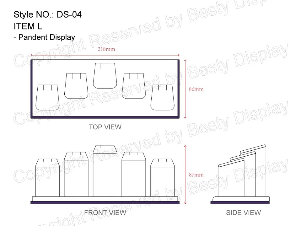 DS-004 Item L Measurement | Besty Display