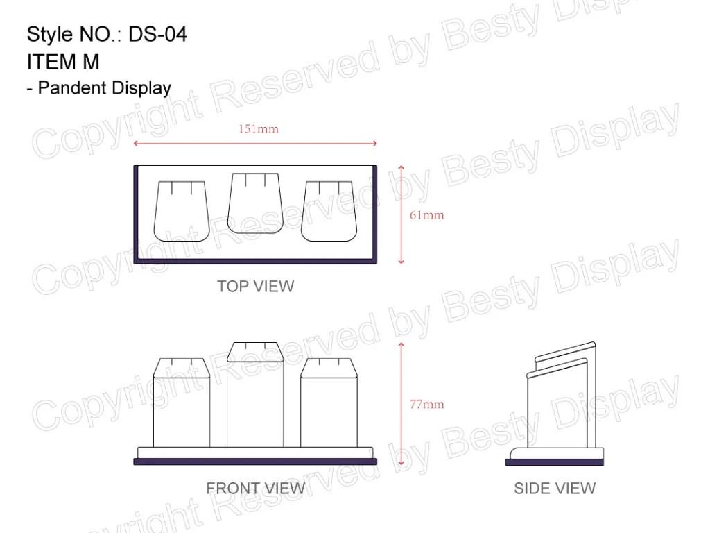DS-004 Item M Measurement | Besty Display