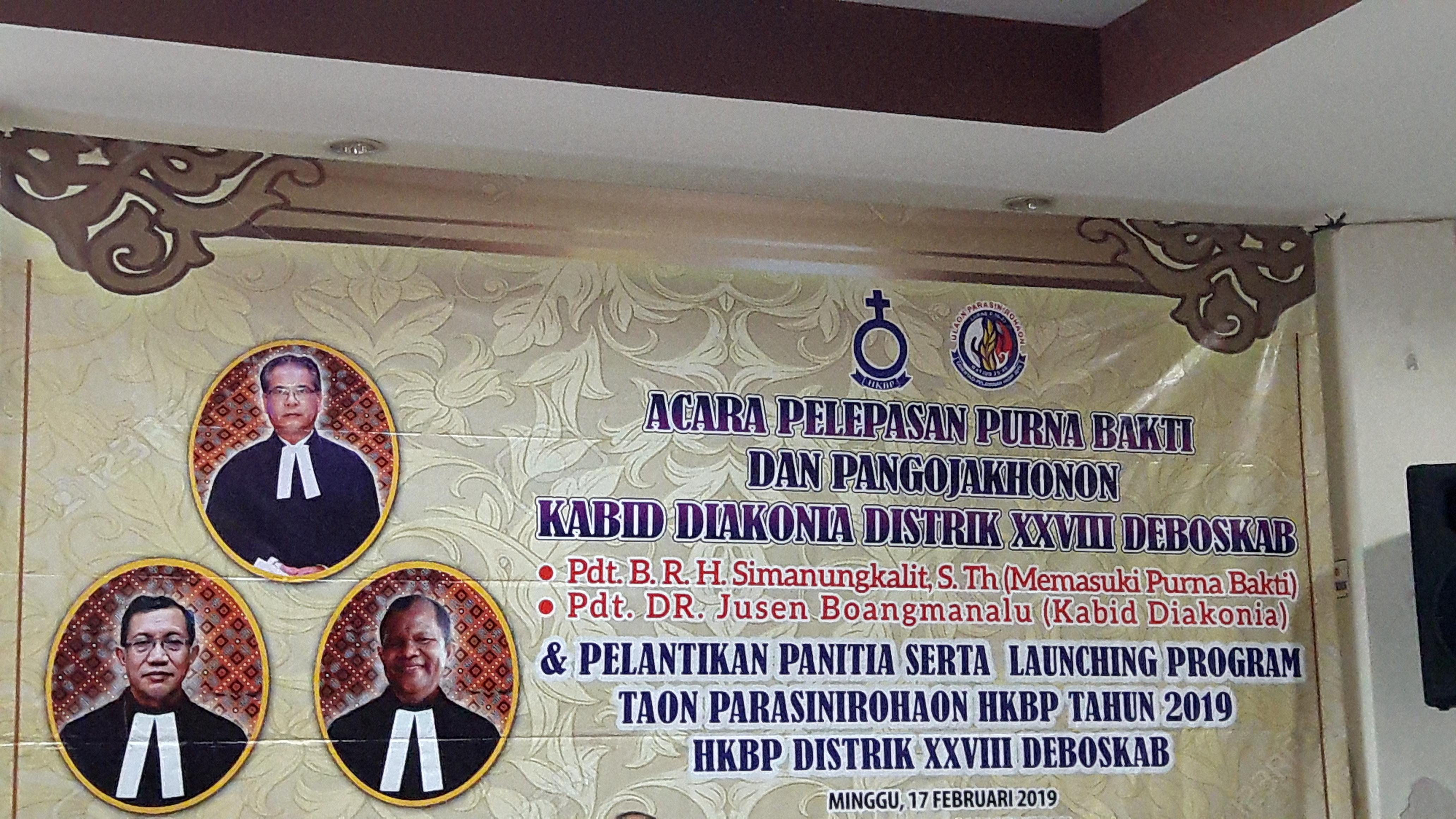 Launching dan Pelantikan Panitia Taon Ulaon Parasinirohaon Distrik XXVIII Deboskab serta Pisah Sambut Kabid Diakonia