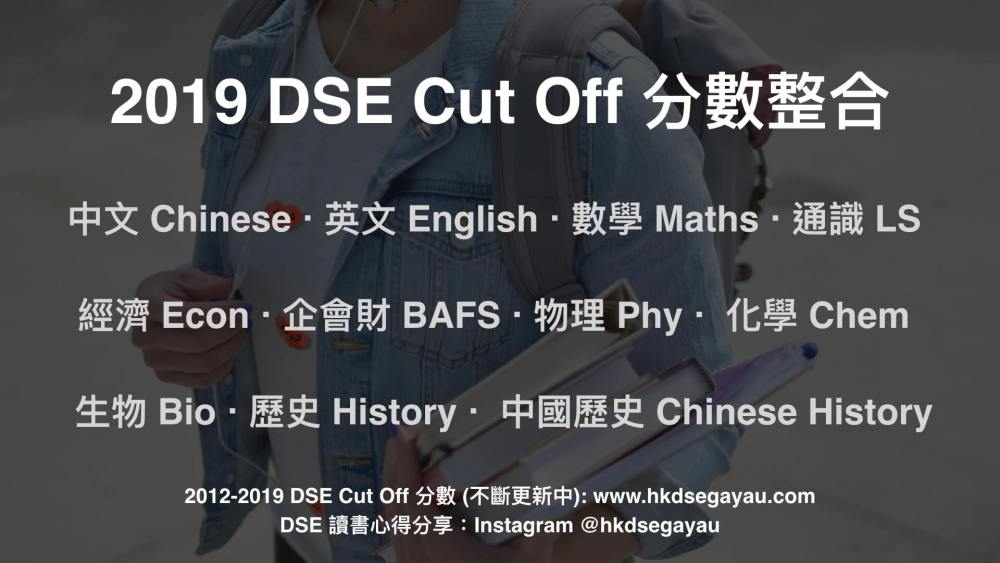 2019 DSE Cut Off 分數