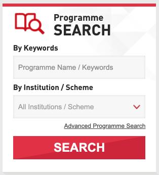 """第二步:碌到落底搵 """"Programme Search"""""""