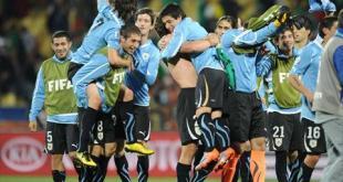 أوروجواي تهزم المكسيك وتتأهلان سويا للدور الثاني بالمونديال