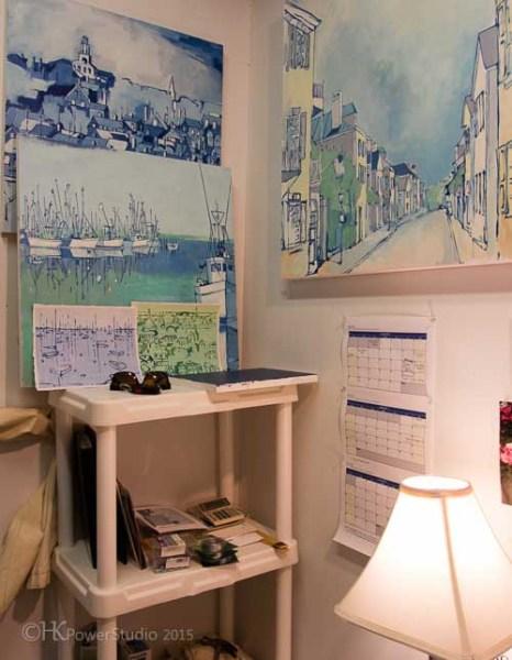 Corner of Whitney's Painting Studio