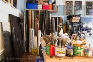 Artist Morgan Santander's Studio