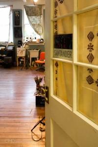 Morgan Santander's studio entrance