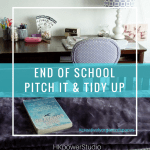 End of School year pitch & tidy up