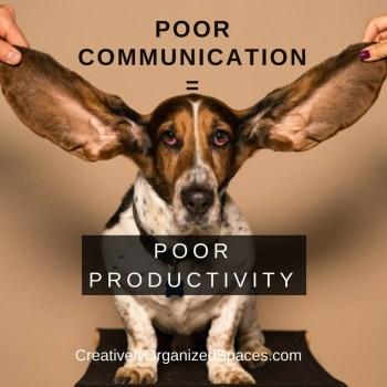 communication affects productivity