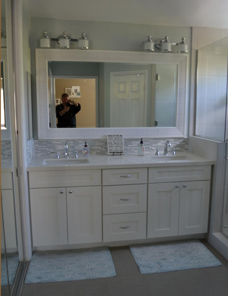 Bathroom Vanity Remodel by HK Construction Rancho Bernardo CA