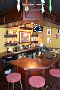 Custom bar in gameroom by HK Construction