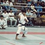 黃家棟師傅在進行男子套拳比賽 Sensei Sunny K. T. Wong, in a kata competition