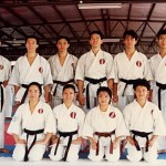 本會參賽運動員在新加坡糸東流空手道本部道場攝 Competitors from our Association, at the Singapore Shitoryu Karate Association Honbu Dojo
