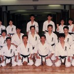 梁伯偉師傅與日大鶴ケ丘高中空手道部學員合照  Sensei Patrick. P. W. Leung with students of Karatedo Squad of Tsurugaoka High School, Nihon University