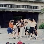 在大阪城堡觀光中 A tour at the Osaka Castle